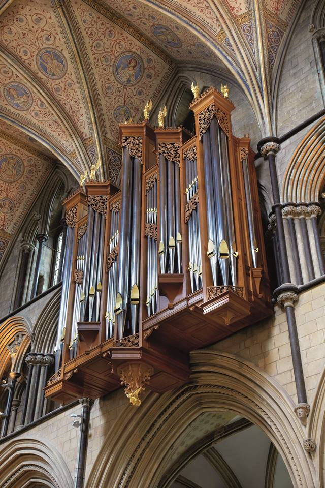 Worcester Cathdedral organ case